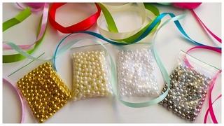 Взяла бусины и ленты. Покажу, в какую красоту я их превратила. Amazing ribbon and bead craft ideas.