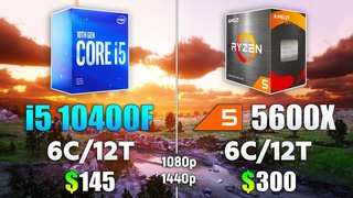 Core i5 10400F vs Ryzen 5 5600X - How Big is the Difference in 1080p & 1440p?