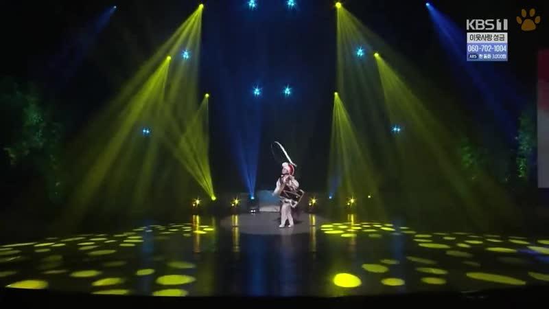 Тигрята на подсолнухе Юная барабанщица Ким Ха Чжин сольный танец ККТМ выпуск 1243