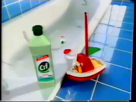 Reklama Cif active cream 1997 czysci jeszcze skuteczniej wybiela czyszczone powierzchnie