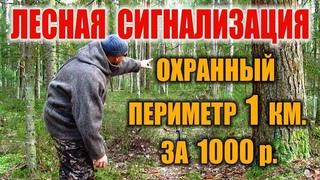 Охранная сигнализация в лесу. Как сделать сигнализацию - Система предупреждения от хищников и людей.