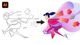 Flat Illustration Tutorial In Adobe Illustrator