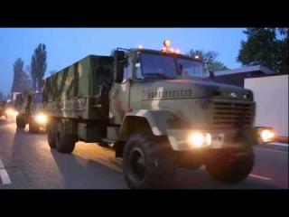 В зону АТО отправилась новая партия бронетехники Украины.