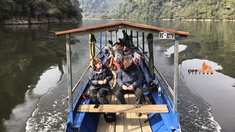 Ba Be offers great boat cruise and off road riding in a stream It's one of the great locations for fantastic Vietnam tours