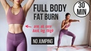 30 min Full Body Fat Burn HIIT (NO JUMPING) - Ab, Core, Arm, Back, Leg, Thigh Cardio ~ Emi