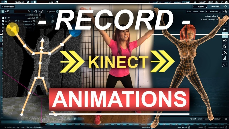 Blender Kinect Part 3 Recording Animations!