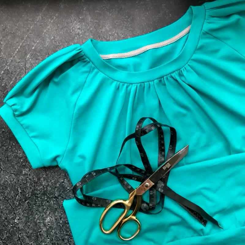 Новая выкройка футболки реглан со сборкой es191
