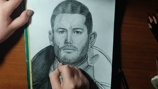 Drawing Portrait of Number One: Luther Hargreeves from «The Umbrella Academy» (Tom Hopper)