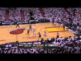 Manu Ginobili's amazing pass that was totally unnoticed by everyone. Game 1 2013 NBA Finals