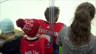 Alex Ovechkin knows how to make a young fan smile!