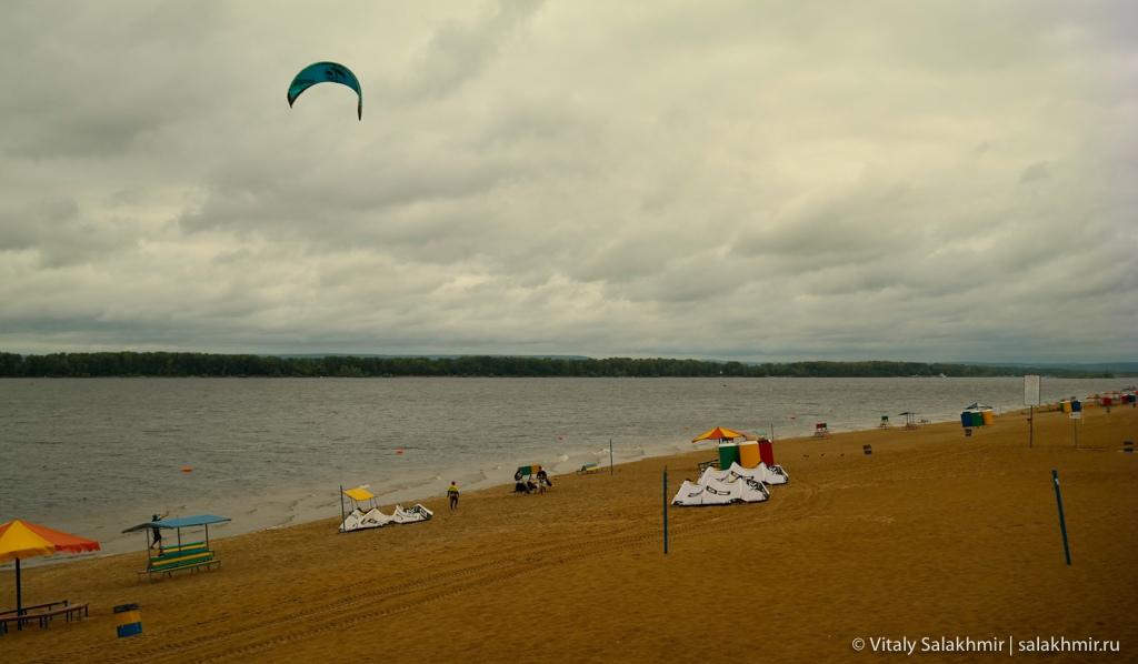 Пляж в Самаре, путешествие по России 2020