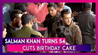 Salman Khan Turns 54, Cuts Birthday Cake With Dabangg Co-Star Sonakshi And Bodyguard Shera