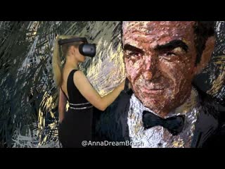 Sean Connery - portrait in virtual reality