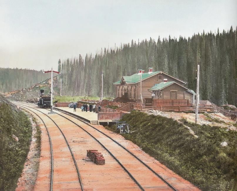 Первозданная железнодорожная Россия в цвете эпохи царской Империи глазами неизвестного фотографа, изображение №18