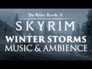 The Elder Scrolls: Skyrim | Winter Storms Music & Ambience 🎧 12 Peaceful Scenes