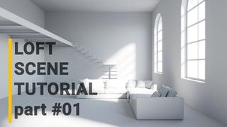 3ds Max 2020 Corona Loft Scene Modeling Workflow
