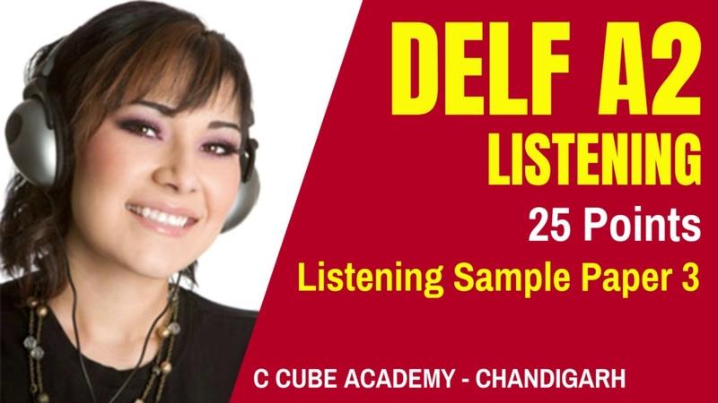 DELF A2 Comprehension Orale DELF A2 Listening Sample Paper 3 Listening Practice