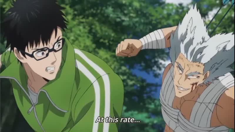 Garou defeat Megane Garou Garo Гароу One punch man ванпанчмен anime