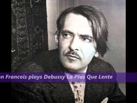 Samson Francois plays Debussy La Plus Que Lente