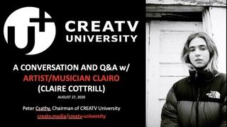 CREATV University: Artist/Musician CLAIRO (Claire Cottrill) - A Live Conversation & Q&A