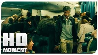 Зомби на борту самолета - Война миров Z (2013) - Момент из фильма