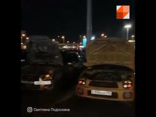 Тусовку автомобилистов разогнала полиция