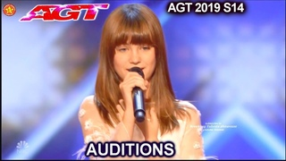 """Charlotte Summers  13 yo Singer AWESOME """" I Put a Spell on You""""   America's Got Talent 2019 Audition"""