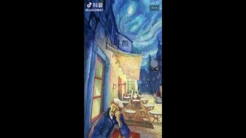 Шедевр Винсента Ван Гога — картина Ночная терраса кафе в объеме.-4.mp4