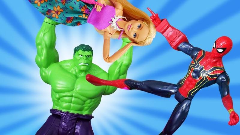 Süper kahramanlar Barbie'yi kurtarıyor Çizgi film oyuncakları ile oyun videosu