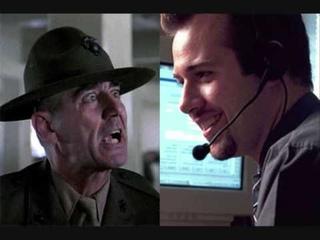 Sergeant Hartman Calls Call Centre