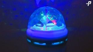Цветная вращающаяся лампа для вечеринки LY-399 обзор