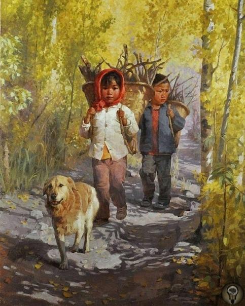 Китайский художник. Jie Wei Zhou часть 1КЛАССИЧЕСКИЙ РЕАЛИЗМ Цзе Вэй Чжоу (Jie Wei Zhou) - китайский художник, родился в 1962 году. Учился в Шанхайском университете, окончил его в 1984 году со