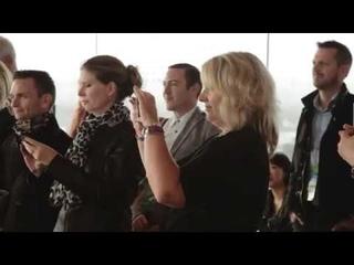 Irish Dancers with drummer Flash Mob