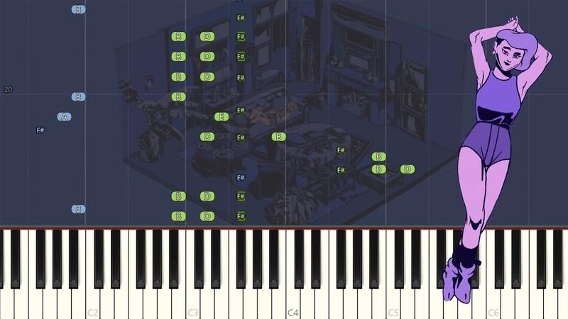 Caravan Palace - Wonderland Synthesia Piano Tutorial