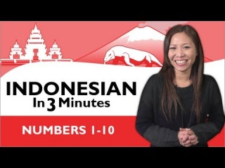 Learn Indonesian - Indonesian in Three Minutes - Numbers 1-10