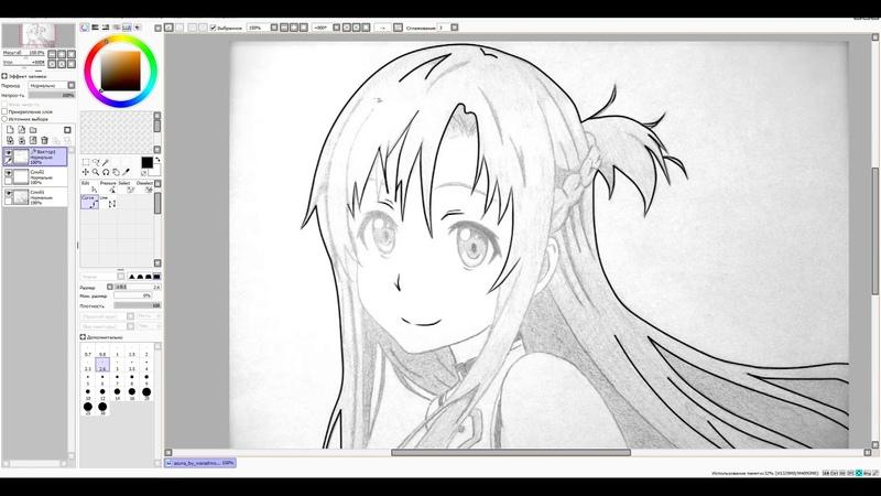 Speed paiting SAI Sword Art Online Asuna