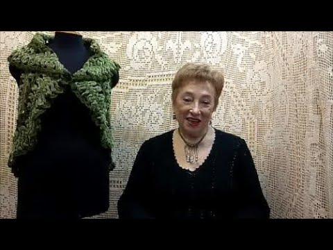 Жилет Бархатный Мастер класс по вязанию крючком от О С Литвиной