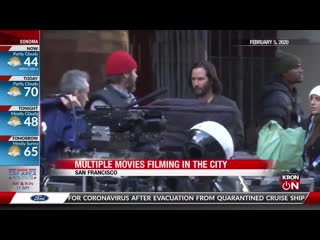 Watch daredevils leap from san francisco skyscraper for movie filming
