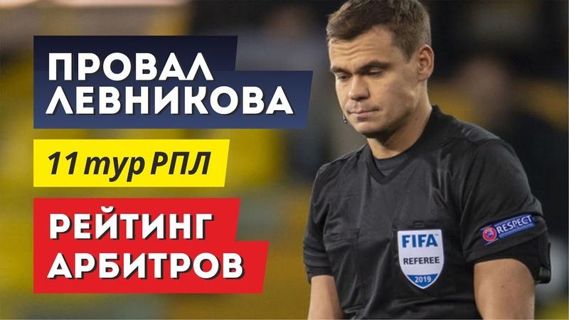 Провал Левникова Рейтинг арбитров и назначение арбитров на 12 й тур РПЛ Обзор матчей