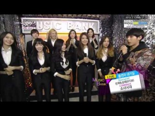 140307 SNSD - Music Bank Backstage Interview