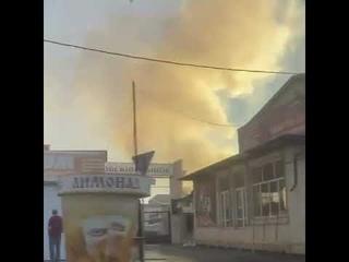 Вчера на центральном рынке тушили пожар...