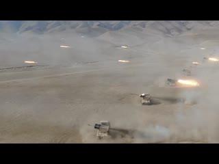 Активная фаза совместного учения 201-ой военной базы РФ и ВС Таджикистана на поли