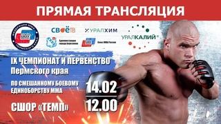 Прямая трансляция Чемпионата и первенства Пермского края по смешанным единоборствам ММА