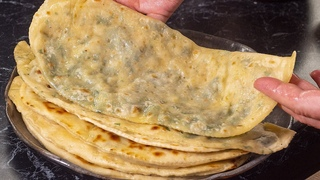 Мука+вода+зелень. Всё так просто??? Кутабы –лучшие лепешки на сковороде Делаю по рецепту шеф-поваров