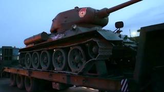 Перебазирование техники, задействованной в параде к 76-летию Победы, в Москву