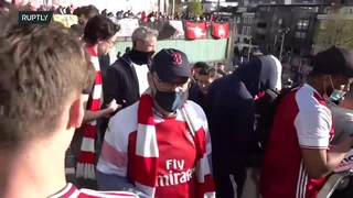 LIVE: Fans protest against Arsenal owner Kroenke at Emirates Stadium in London