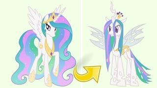 Princess Celestia as Queen Chrysalis MLP