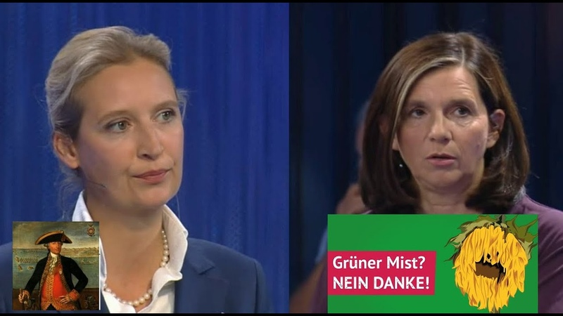 Klimaklartext Alice Weidel AfD Frau Göring Grüner Mist schnauft und hüstelt