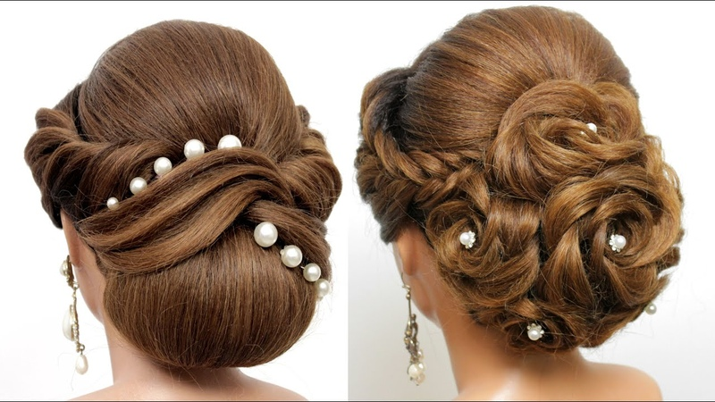 2 Beautiful Bun Hairstyles for medium and long hair Hair Style Girls Hairstyles for Wedding
