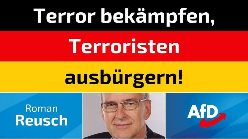 Roman Reusch AfD Terror bekämpfen Terroristen ausbürgern!